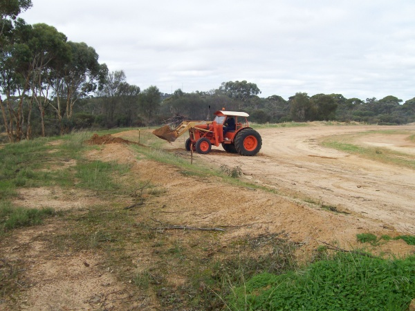 Ron Poultney on tractor